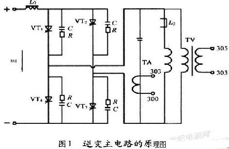 图1为逆变主电路的原理图
